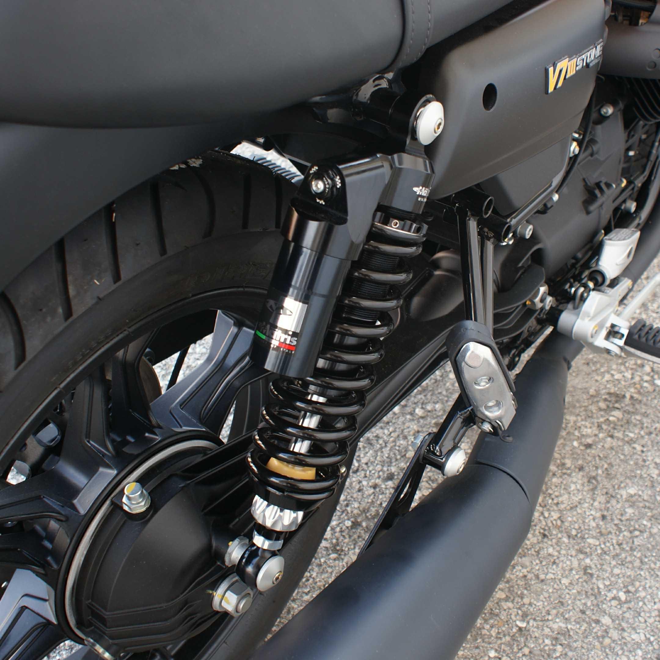 Moto guzzi V7 TEC Alloy Gas shocks BLACK// Chrome  adjustable length// damping