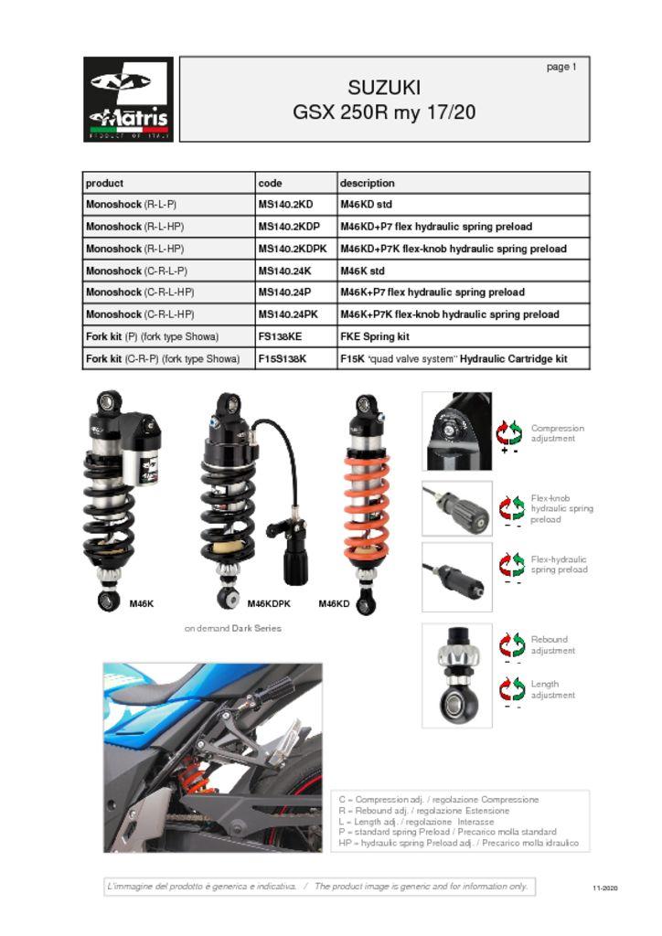 thumbnail of Suzuki GSX 250R 17-20 web